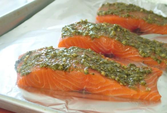 Pesto+salmon