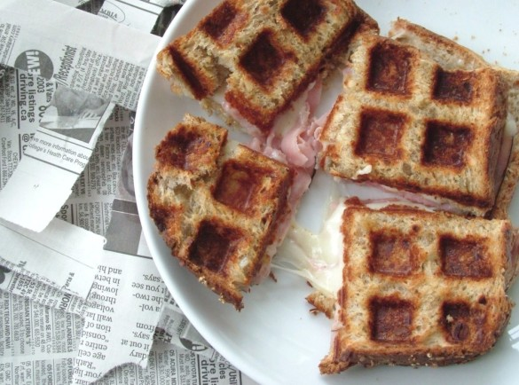 Waffled+Ham+&+Cheese