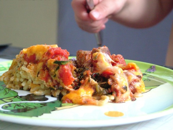 Leftover+spaghetti+pie