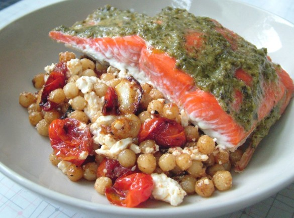 Salmon+&+Israeli+Couscous