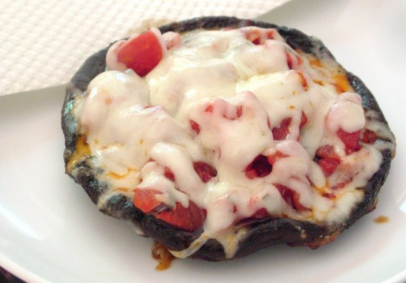 Day 180: Portobello Pizzas with Bruschetta - Dinner With Julie