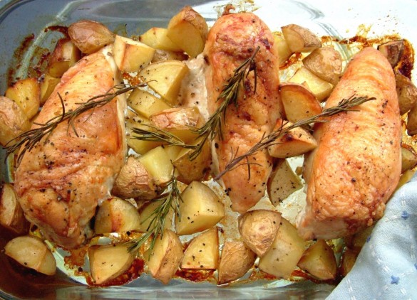 Roasted+chicken+&+potatoes