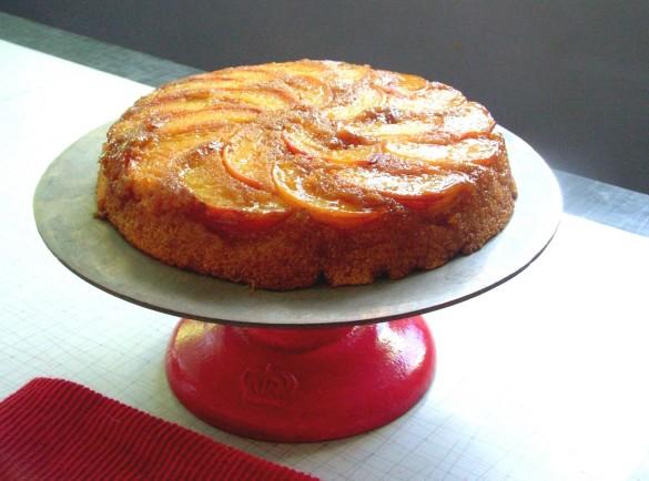 Peach+Cornmeal+Cake