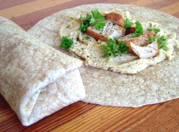 Chicken+Hummus+wraps