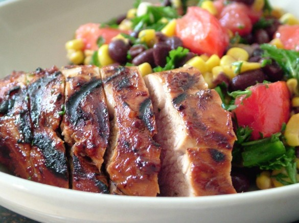 Pork+tenderloin+&+corn+salad