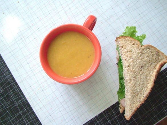 Soup+&+sandwich