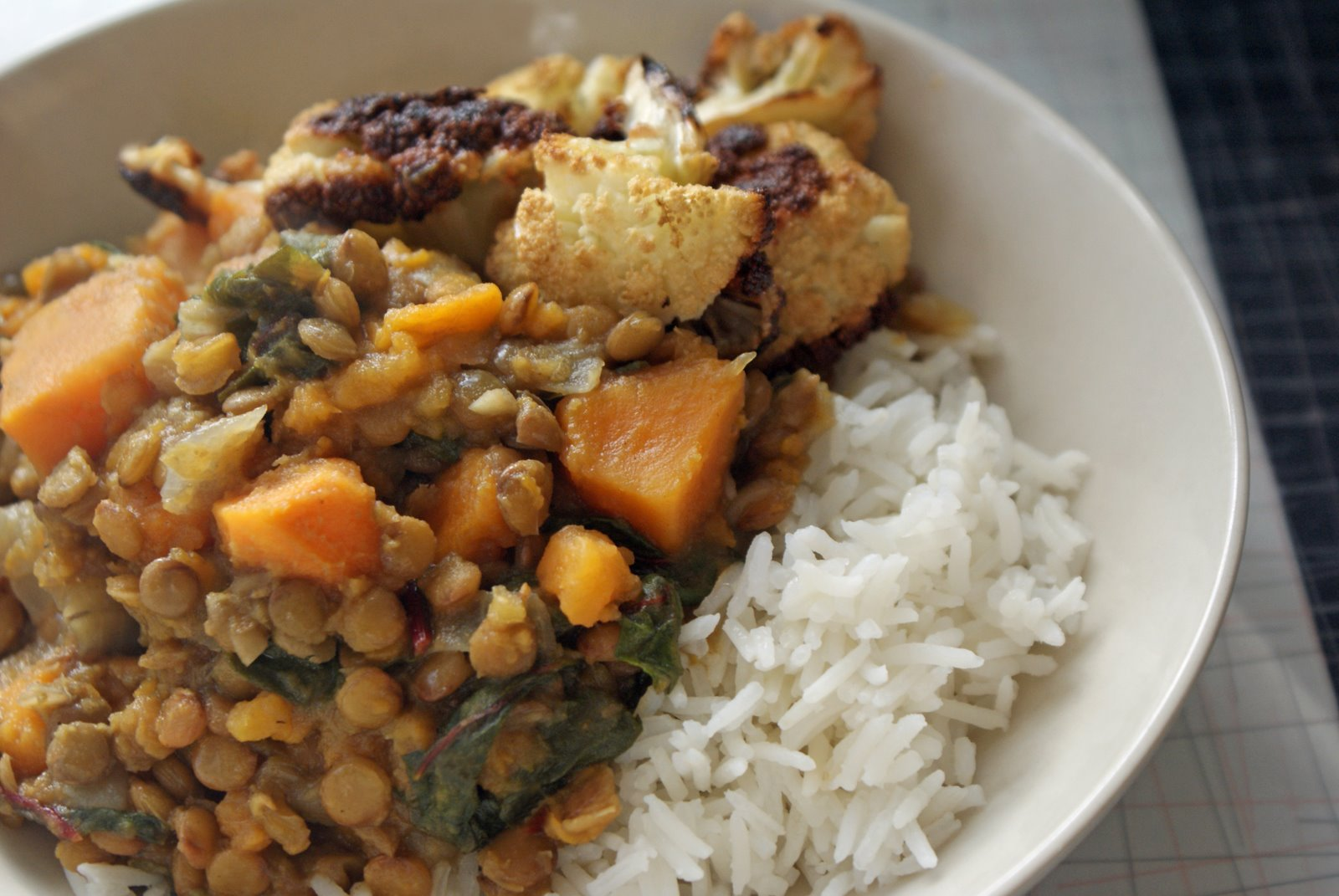 Curried Lentils With Sweet Potatoes and Swiss Chard - Dinner With ...