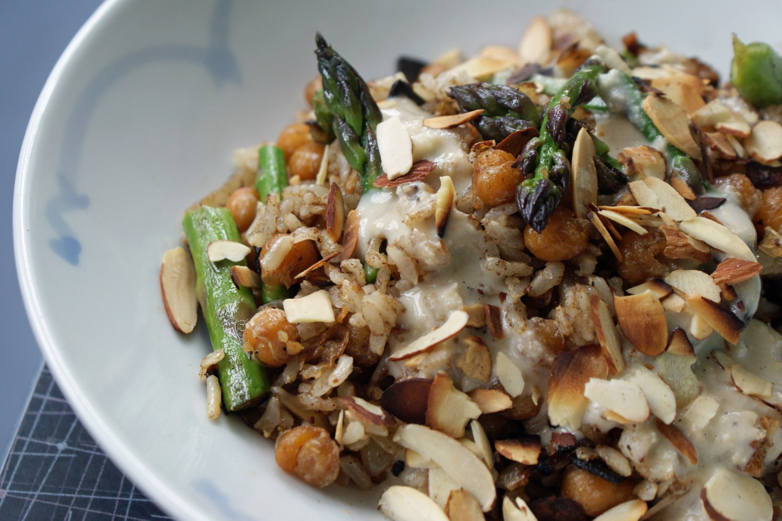 ... risotto lemony chickpea stir fry closeup vegetarian stir fry with