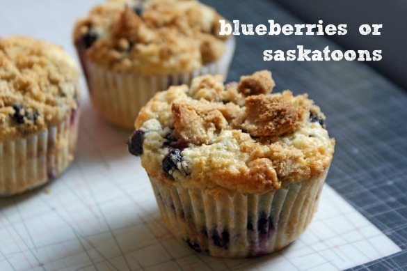 Browned Butter Blueberry Muffins (with Saskatoon berries) - Dinner ...