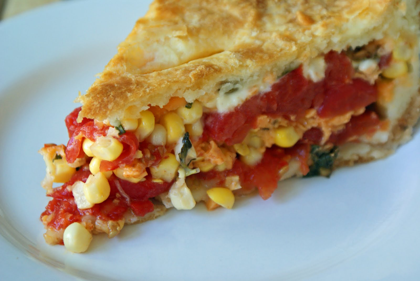 Tomato-Corn Pie with Biscuit Crust - Dinner With Julie