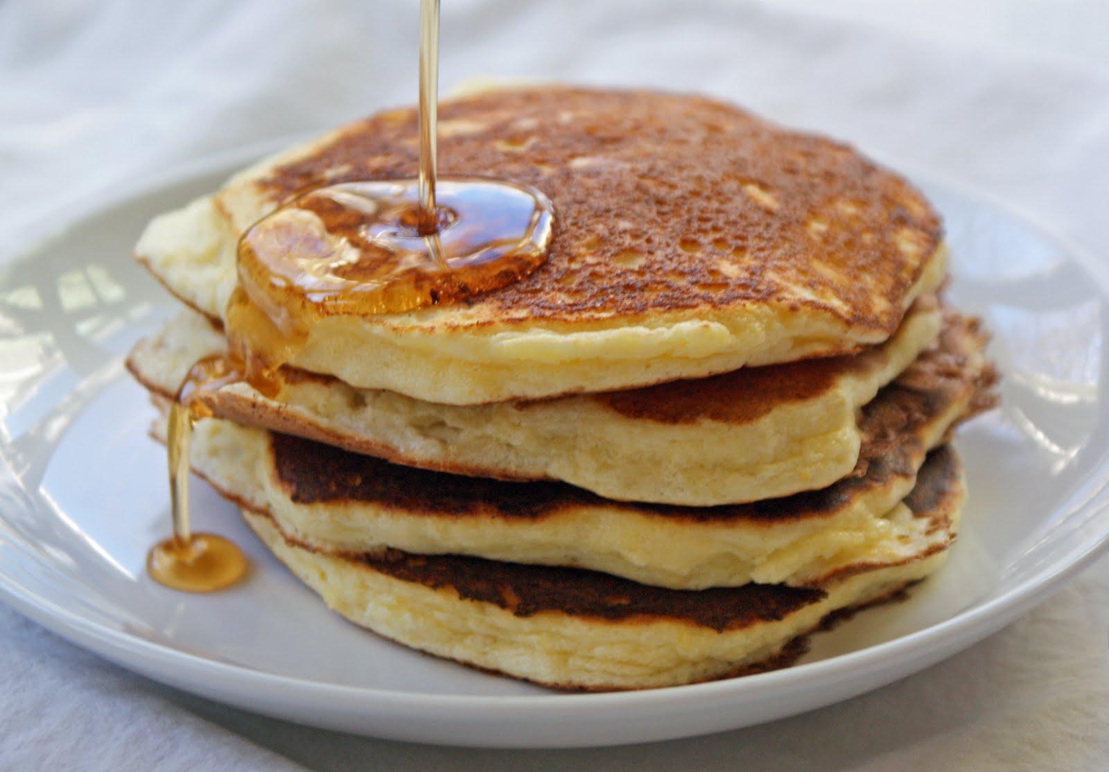Lemon Ricotta Pancakes with Lemon Maple Syrup - Dinner With Julie