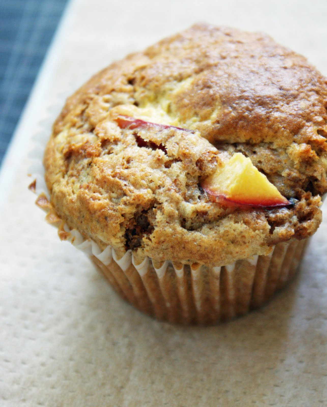 Peach+bran+muffins