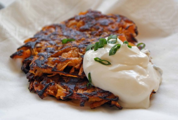 Curried+sweet+potato+latkes