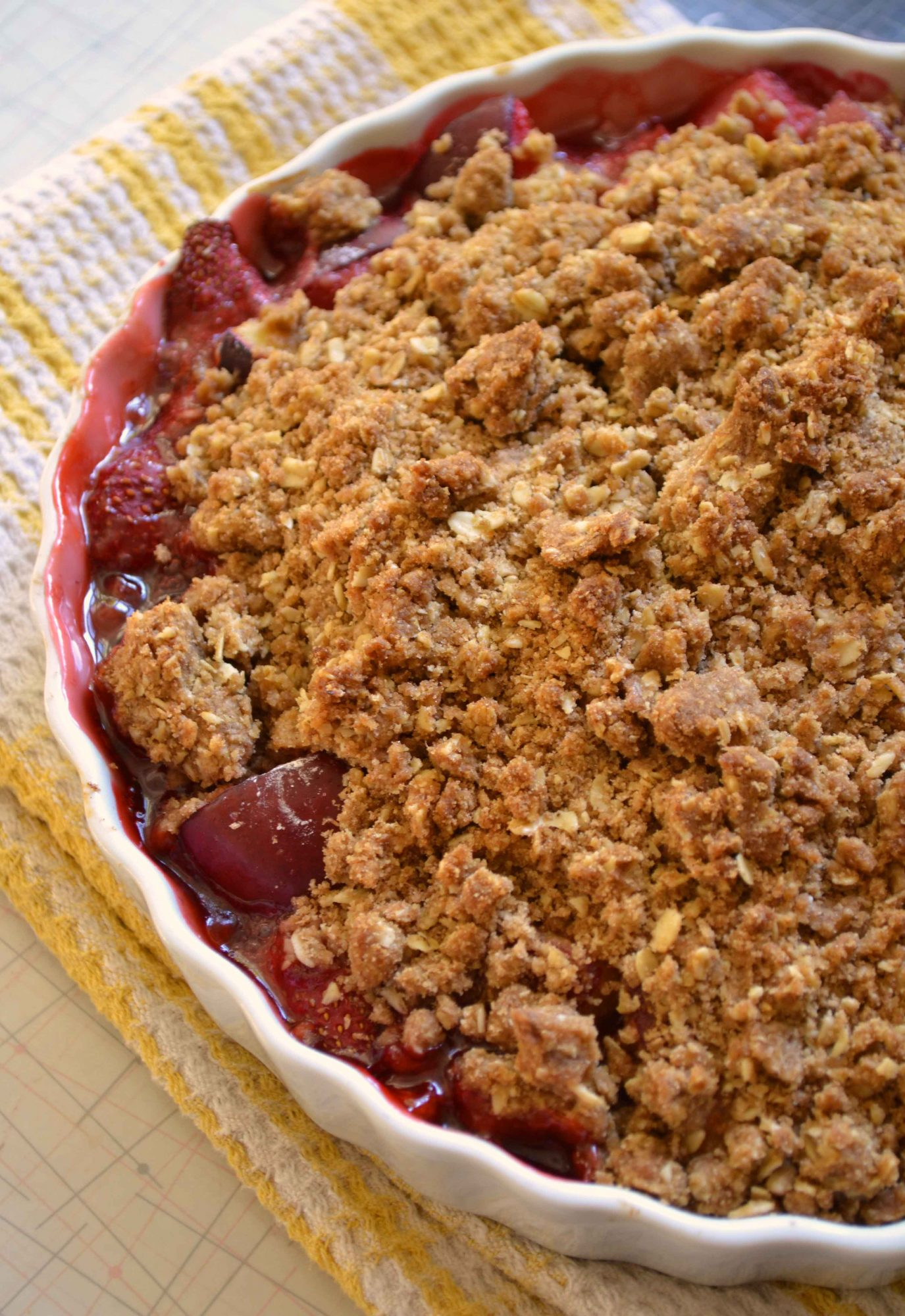 Strawberry-Plum Crumble (with Sour Cream Ice Cream) - Dinner With ...