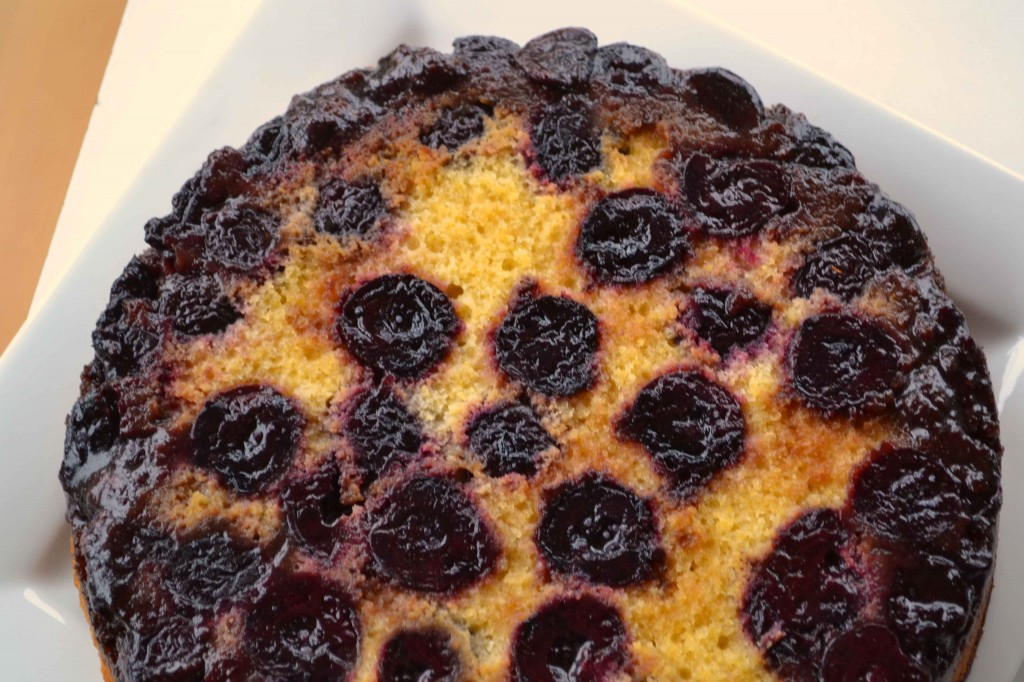 Cherry Cornmeal Upside-down Cake - Dinner With Julie