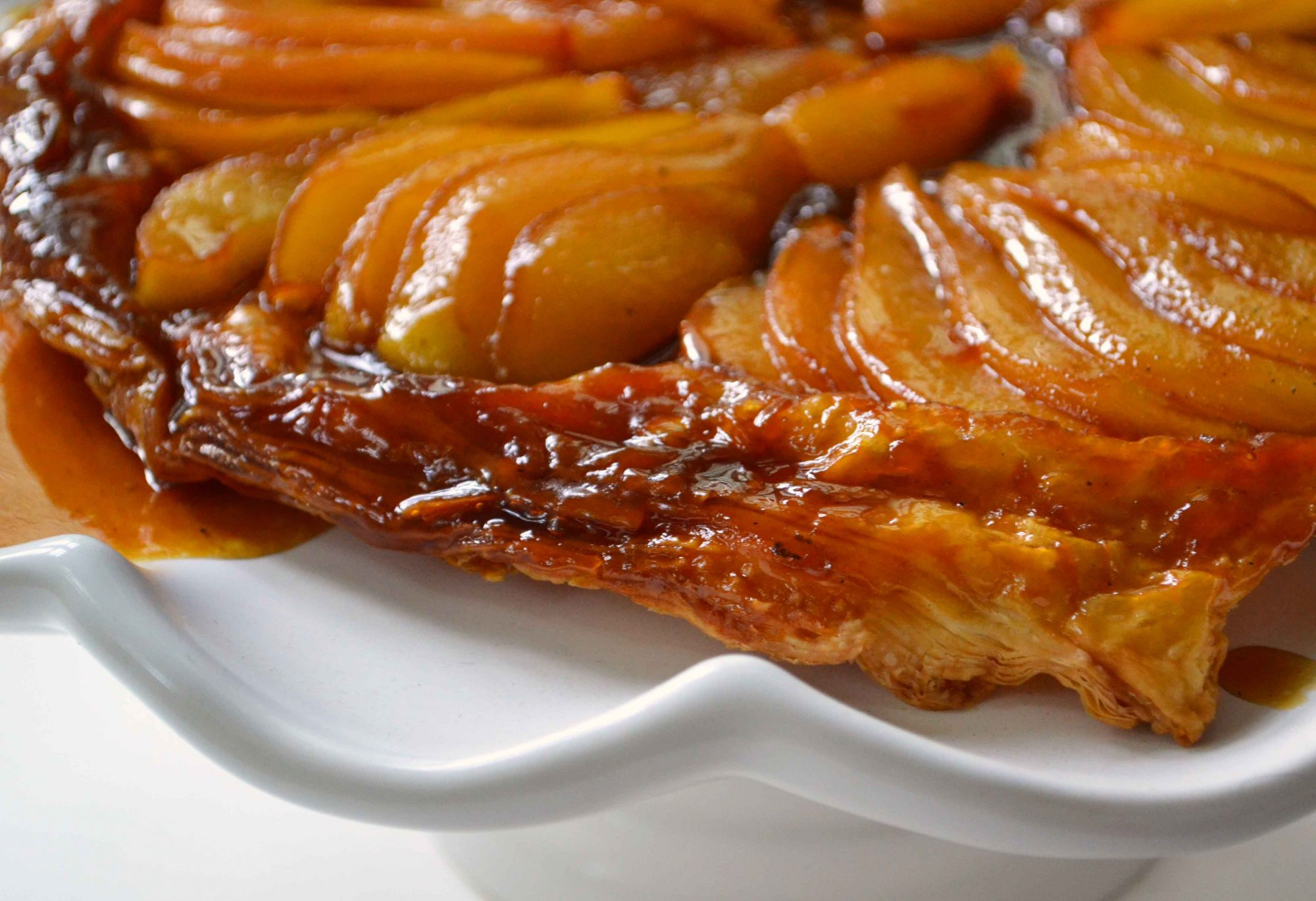 Cast Iron Pear Tarte Tatin - Dinner With Julie