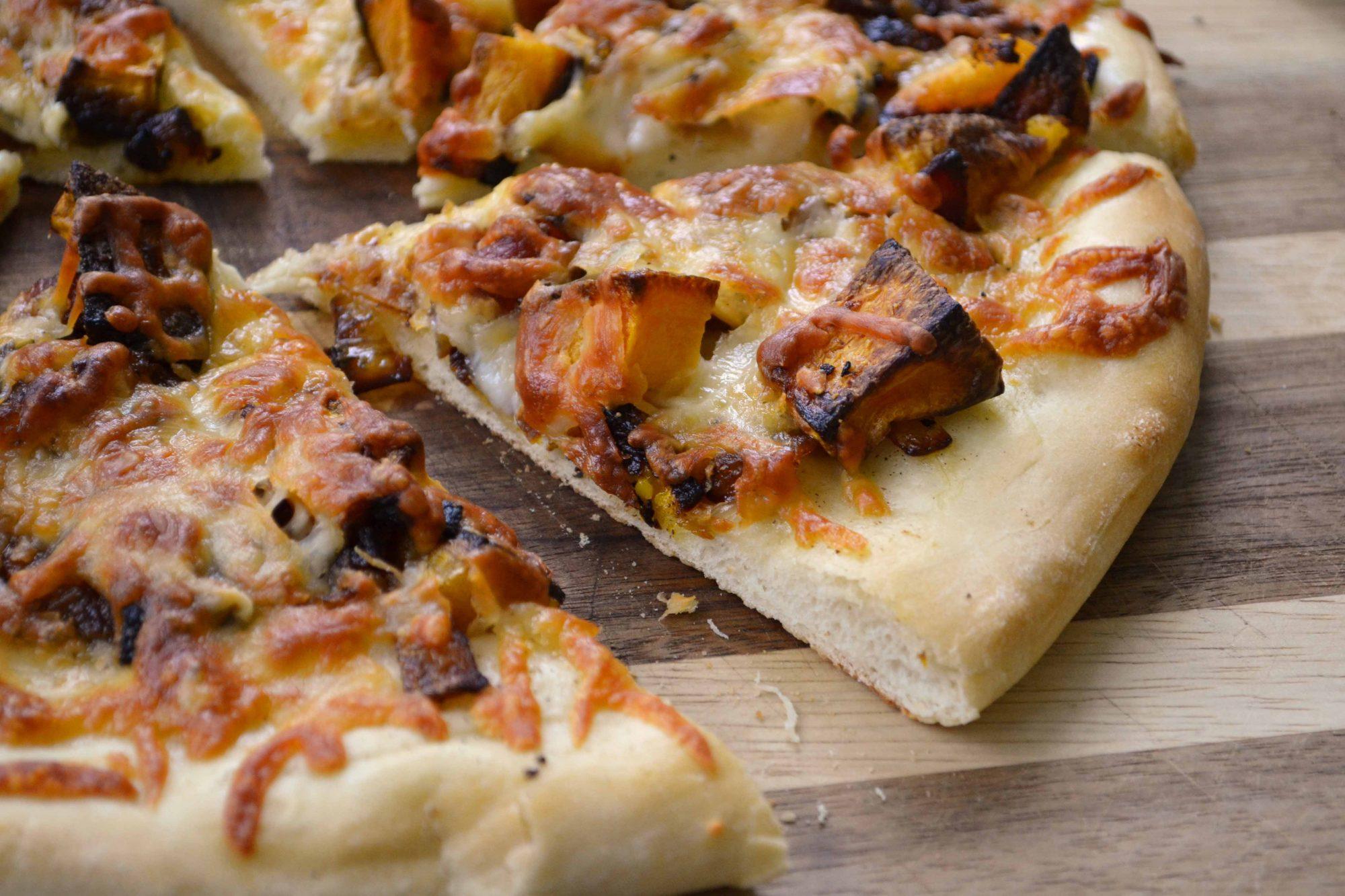 Roasted squash pizza wedge