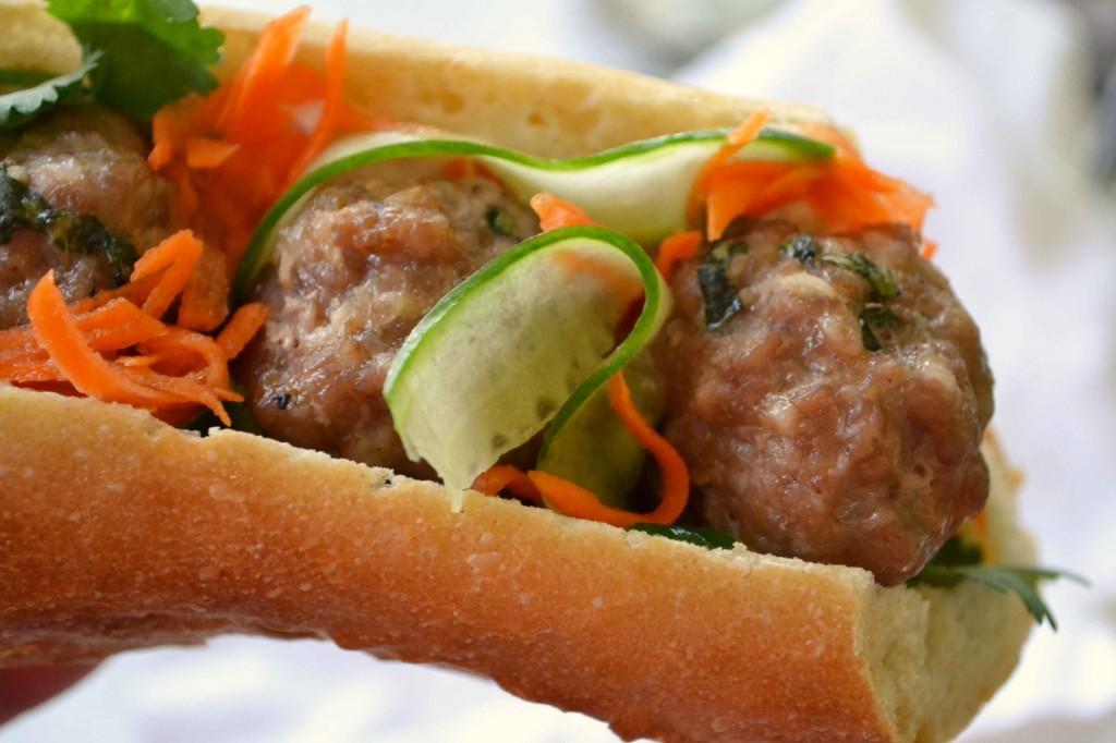 Pork Meatball Bánh Mì - Dinner With Julie