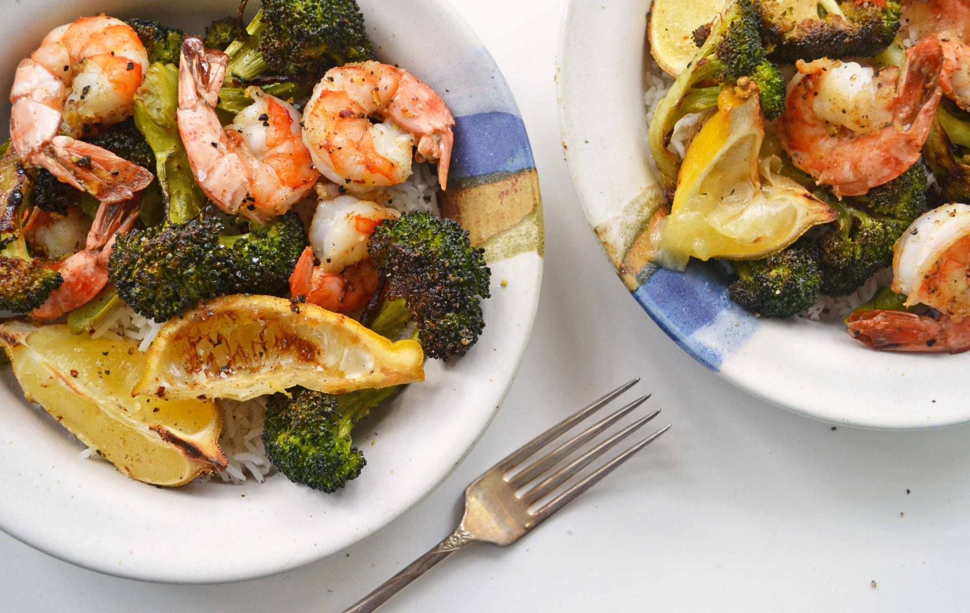 Roasted shrimp & Broccoli 2