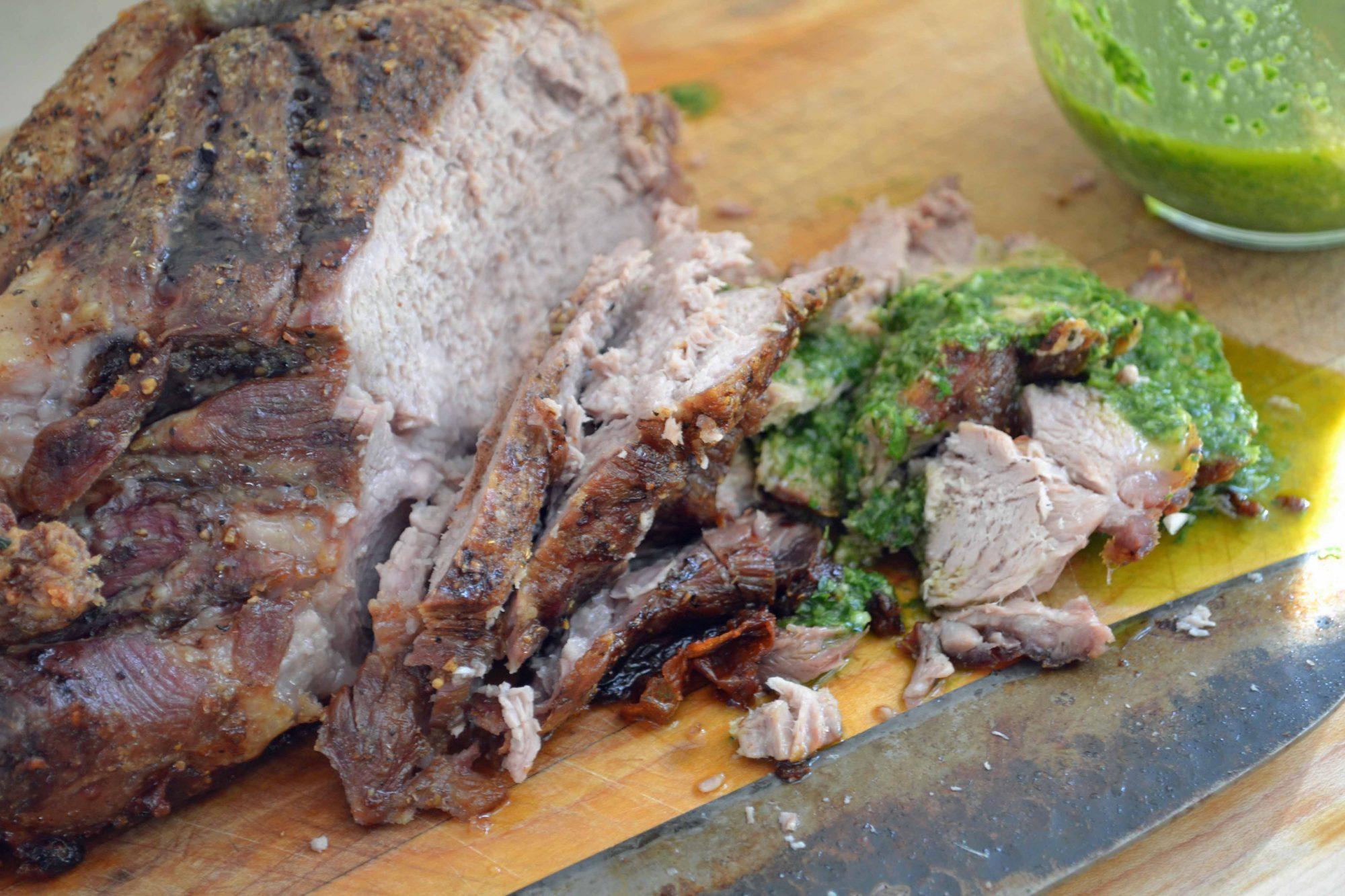 Porchetta-style Roast Pork with Salsa Verde - Dinner With Julie