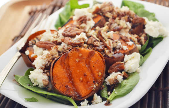 Grilled sweet potato salad 2