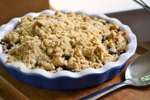 apple blueberry crumble 4