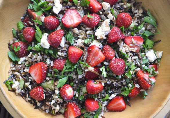wild rice strawberry salad 1