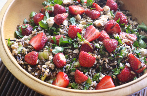 wild rice strawberry salad 2