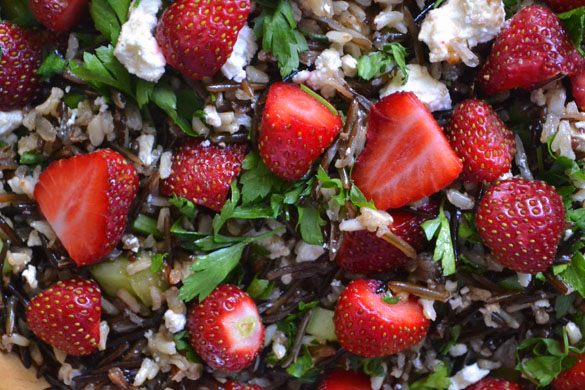 wild rice strawberry salad 3