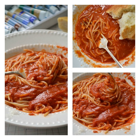 Red Sauce Collage
