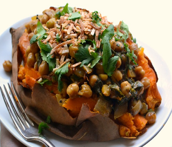 Braised Coconut Spinach & Chickpeas With Lemon Recipe ...