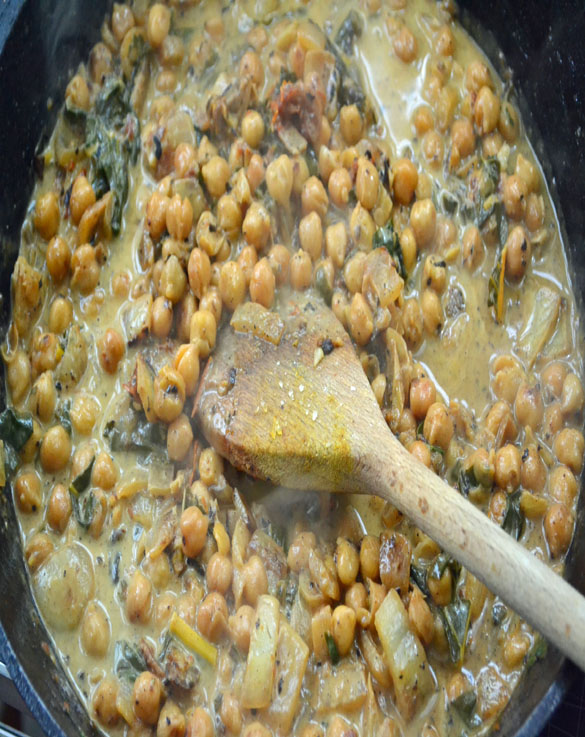Braised Chickpeas and Chard with Coconut Milk & Lemon - Dinner With ...