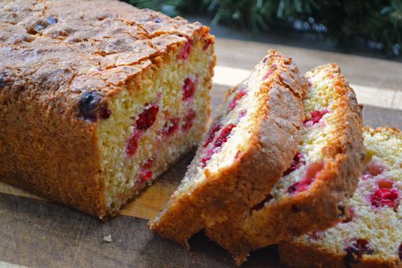 Mandarin cranberry loaf 2
