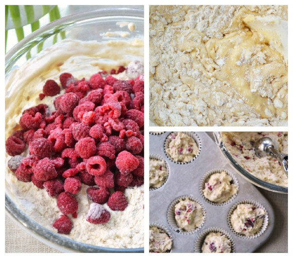 Heartland Raspberry Yogurt Muffin Collage