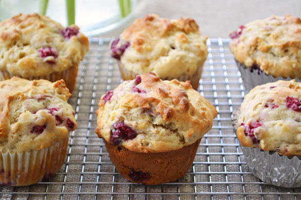 Heartland Raspberry Yogurt Muffins - Dinner With Julie