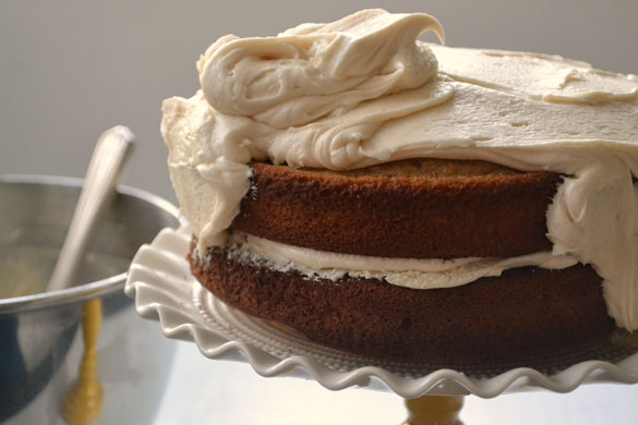 Spice Cake with Browned Butter Brown Sugar Frosting - Dinner With ...