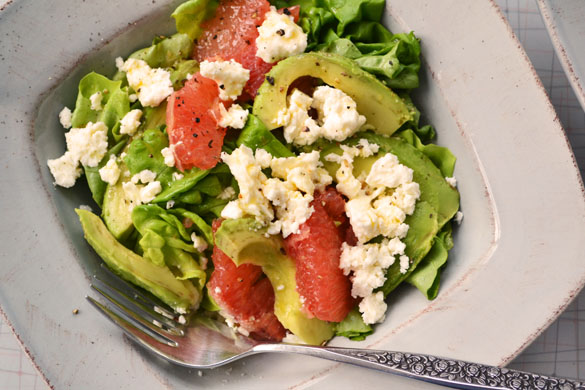 Pink Grapefruit, Avocado And Watercress Salad Recipes — Dishmaps