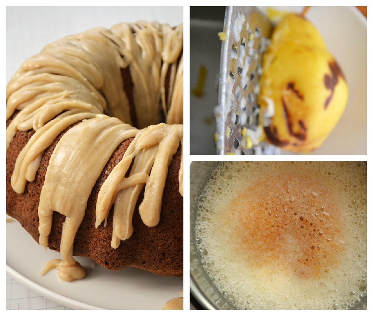 pear cake Collage