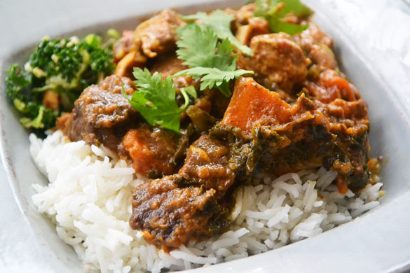 Beef sweet potato curry