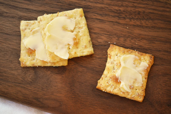 Buttered crackers