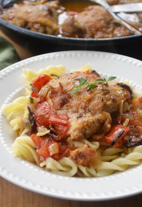 Chicken Cacciatore - Dinner With Julie