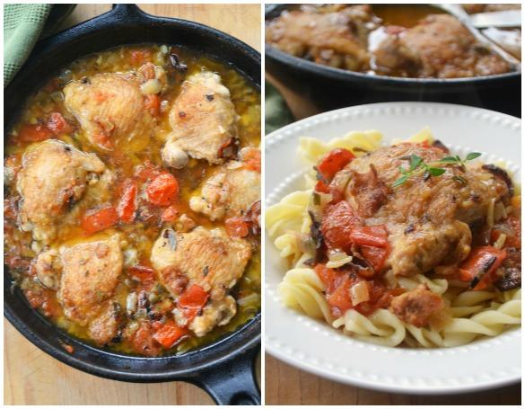 Chicken Cacciatore Collage 1