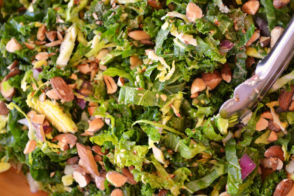 Kale & Brussels Sprout Salad 6