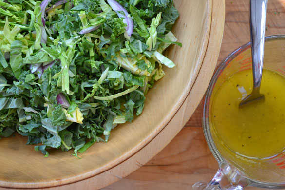 Kale & Brussels Sprout Salad 7