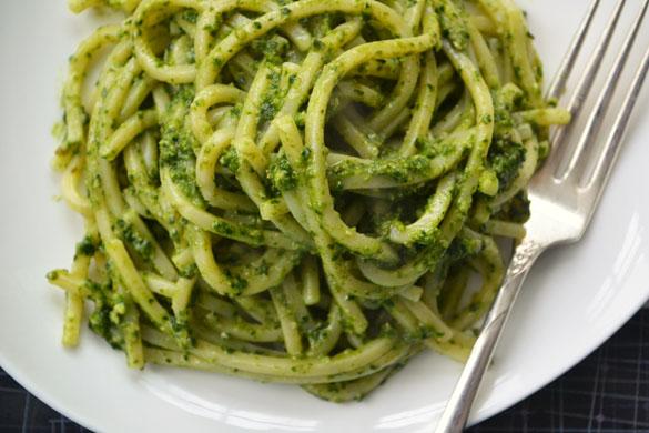 Kale Pesto Pasta 1 - Dinner With Julie