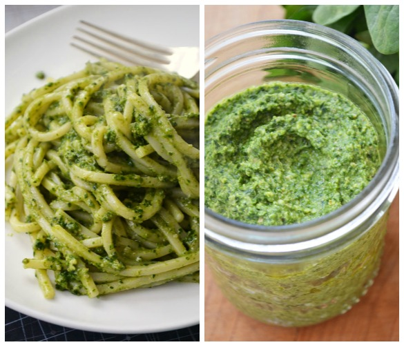 Kale pesto Collage