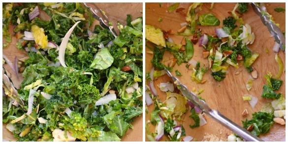 kale salad Collage