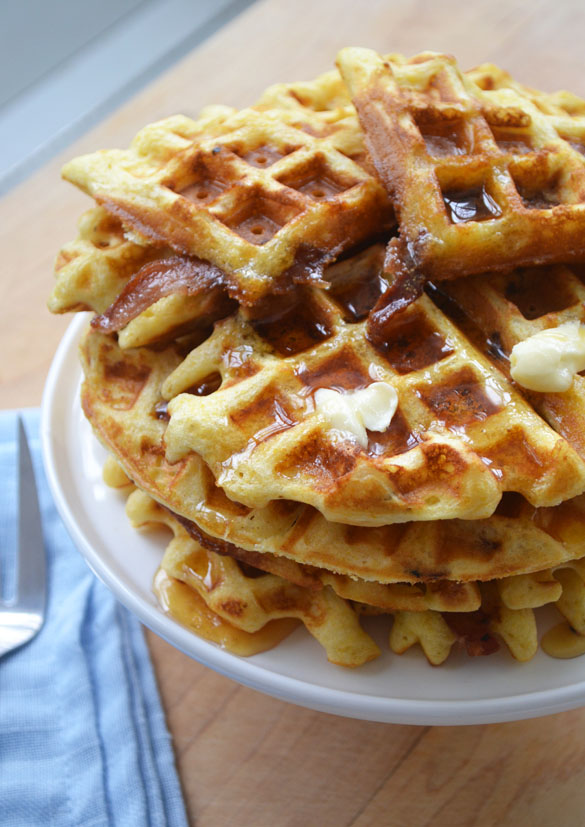 Bacon Cornmeal Waffles 5