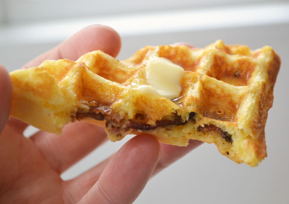 Bacon Cornmeal Waffles 6