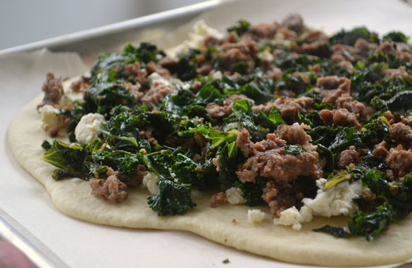 Lamb & kale pizza 2